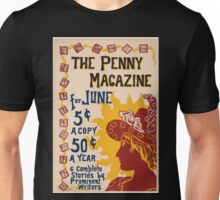 Artist Posters The Penny magazine for June 6 complete stories by prominent writers 0828 Unisex T-Shirt
