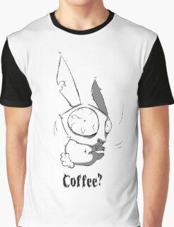 Caffeinated Bunny Graphic T-Shirt