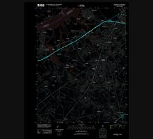 USGS TOPO Map New Jersey NJ Woodbury 20110506 TM Inverted Unisex T-Shirt