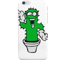 middle finger cartoon comic wichser dancing funny cactus cactus naughty sweet cute flowerpot iPhone Case/Skin