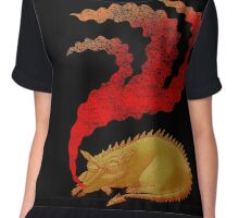 Snoring Dragon Chiffon Top