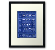 Workplace Bullying and Harassment Poster - UK/ Aus Version Framed Print