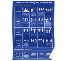 Workplace Bullying and Harassment Poster - UK/ Aus Version Poster