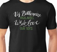 Billionaire Vigilantes - On Black Unisex T-Shirt