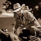 iPhone cowboy by Clare Colins