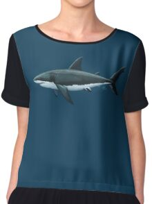 Carcharodon carcharias Chiffon Top