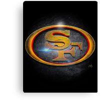 San Francisco 49ers - Men of Gold Emblem Canvas Print