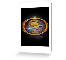 San Francisco 49ers - Men of Gold Emblem Greeting Card