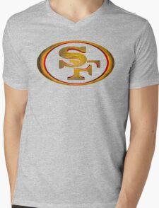 San Francisco 49ers - Men of Gold Emblem Mens V-Neck T-Shirt