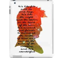 Fire and Ice and Rage, Tenth Doctor, Doctor Who Quote iPad Case/Skin