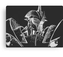 Transformers Prime: Knock Out (Silver and Black) Canvas Print