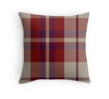00316 Shiel, Claret (Dance) Tartan  Throw Pillow