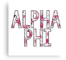 Alpha Phi Canvas Print