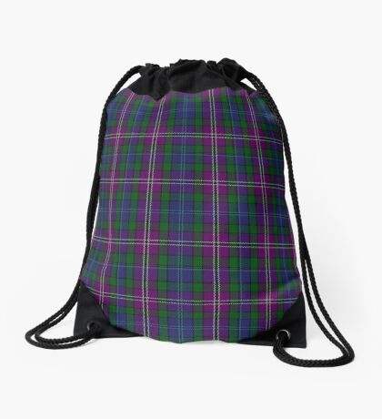 00334 South Lanarkshire District Tartan Drawstring Bag