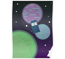 Tardis Space print Poster