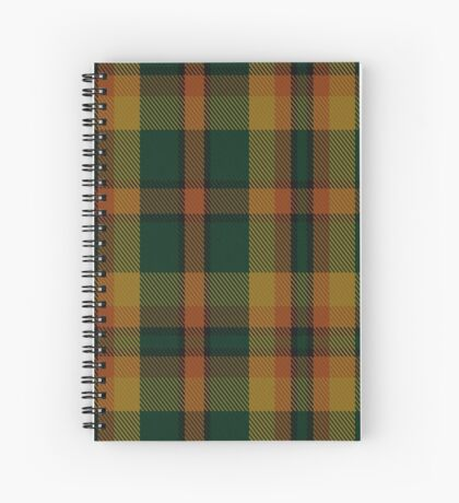 00336 Londonderry County District Tartan  Spiral Notebook