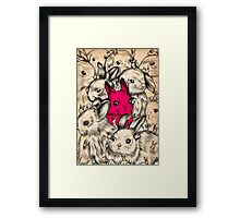 BUNNIES GALORE! Framed Print