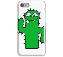 face funny comic cartoon cactus natural sweet cute small iPhone Case/Skin