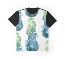 Butterfly-cold colors Graphic T-Shirt