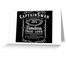 Captain Swan Whiskey Greeting Card