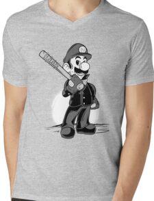 LET THE SMASH BEGIN. Mens V-Neck T-Shirt