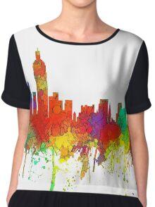 New York, New York Skyline - SG Chiffon Top