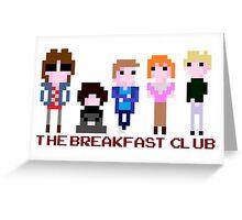 8-bit The Breakfast Club  Greeting Card