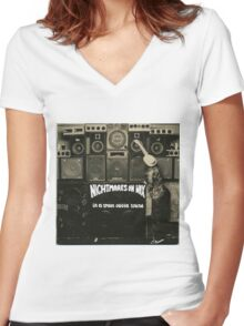 NIGHTMARES ON WAX IN A SPACE OUTTA SOUND Women's Fitted V-Neck T-Shirt