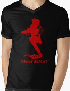 Team Bucky (Red) Mens V-Neck T-Shirt