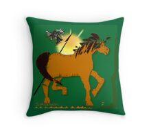 Buckskin Pony Throw Pillow