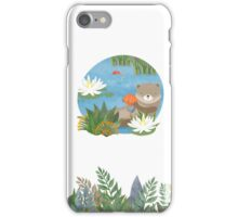 Otter in the forest iPhone Case/Skin