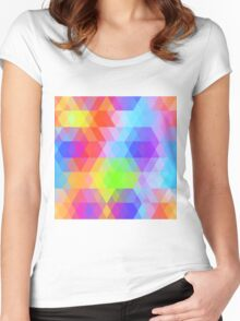 Rainbow pattern Women's Fitted Scoop T-Shirt