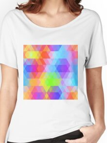 Rainbow pattern Women's Relaxed Fit T-Shirt
