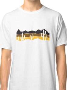 lines pattern desert evening night sunset sunrise kakten cactus hot hot Classic T-Shirt