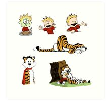 calvin_and_hobbes_all Art Print