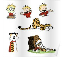 calvin_and_hobbes_all Poster