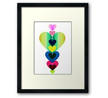 Stack of Hearts Framed Print