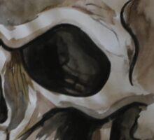 Watercolour Skull Sticker