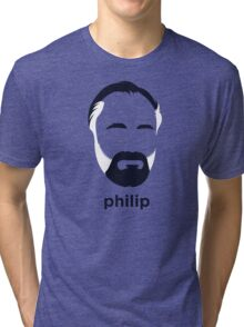Philip K Dick (Hirsute History) Tri-blend T-Shirt