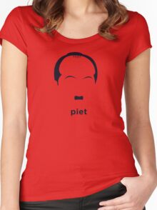 Piet Mondrian (Hirsute History) Women's Fitted Scoop T-Shirt