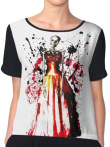 Skeleton Prom Queen Chiffon Top