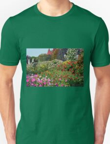 Beautiful colorful park with many flower arrangements. T-Shirt