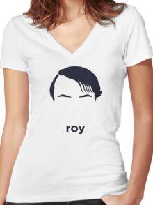 Roy Lichtenstein (Hirsute History) Women's Fitted V-Neck T-Shirt