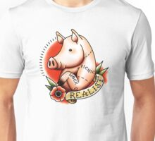 Realist Pig - Inspired by Old School Style Tattoos  Unisex T-Shirt