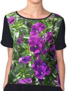 Beautiful purple flowers in the garden. Natural background. Chiffon Top