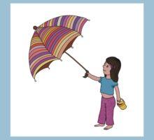 Girl with umbrella Kids Tee