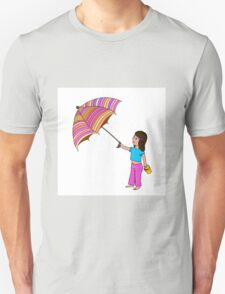 Girl with umbrella Unisex T-Shirt