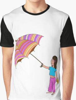 Girl with umbrella Graphic T-Shirt