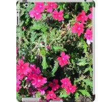 Beautiful pink flowers in the garden. Natural background. iPad Case/Skin