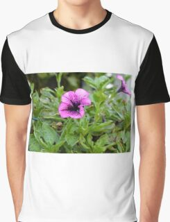 Beautiful purple flowers in the garden. Natural background. Graphic T-Shirt